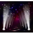 Dark christmas stage spotlight vector