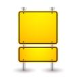 Blank yellow sign vector