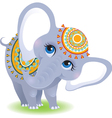 Baby elephant isolated on white background vector