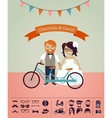 Hipster wedding - design your own invitation card vector