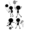 Different sport activities in its silhouette forms vector