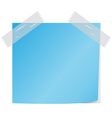 Blue post it vector