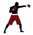 Boxer silhouette vector