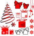 Christmas symbols vector
