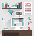 Flat design concept of modern home or busine vector