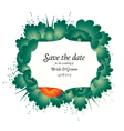 Save the date wedding invite card vector