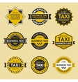 Taxi badges - vintage style vector