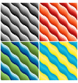 Four wavy seamless patterns vector