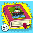 Cartoon advertising children book with a ship on vector