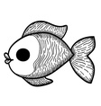 Cartoon hand drawn fish vector