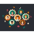 Abstract people business composition vector