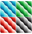 Four colored wavy seamless patterns vector