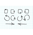 Set of hand-drawn arrow doodles vector