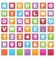 Alphabet signs vector
