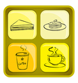Four snack icons vector