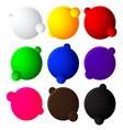 Colorful bubble balls web button on white backgrou vector