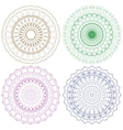 Set of guilloche rosettes vector