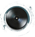 Grunge vynil record icon on background vector