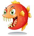 An orange piranha vector