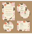 Wedding set with roses vector
