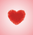 Ruby crystal shape heart vector