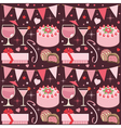 Pink party pattern vector