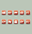 Icons for web business internet email vector