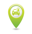 Car with gas station icon map pointer green vector
