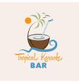 Tropical karaoke bar design template vector