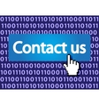 Contact us vector