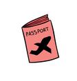 Passport doodle vector