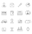 News icons set outline vector