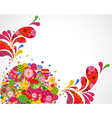 Floral ornamental background card vector