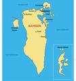 Kingdom of bahrain - map vector