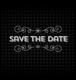 Save the date invitation header vector