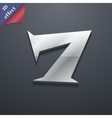 Number seven icon symbol 3d style trendy modern vector