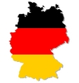 Germany flag on map vector