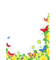 Floral butterfly border vector