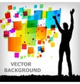 Abstract square colorful background vector