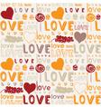 Retro love food background vector