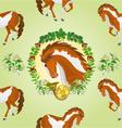 Seamless texture piebald horse head of stallion vector