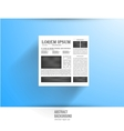 Newspapers and news icon black white vector