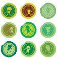 Stylized children stickers vector