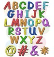 Colorful big letters of the alphabet vector