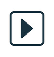 Play icon rounded squares button vector