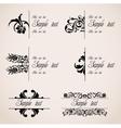 Classic border ornaments set vector