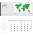 Simple 2015 calendar july vector