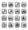 Car service maintenance icons vector