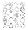 Gears silhouette over white background vector