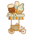 Ice cream on wheels vector